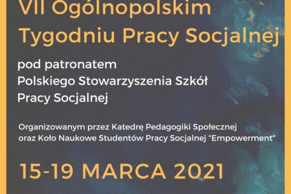 VII Ogólnopolski Tydzień Pracy Socjalnej